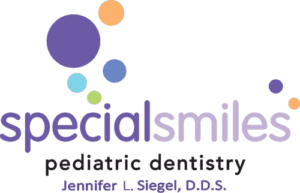special smiles logo orange purple teal green jennifer siegel