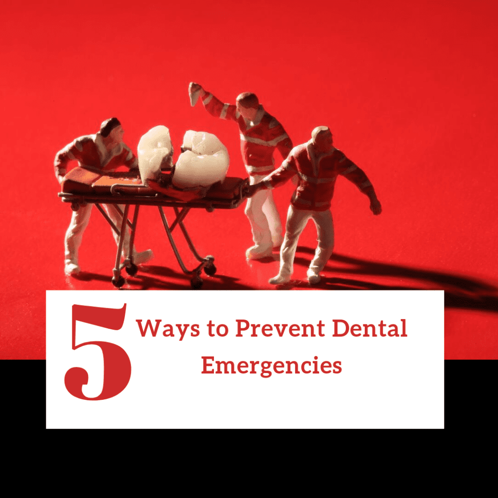 """Title banner for """"5 ways to prevent dental emergencies"""""""