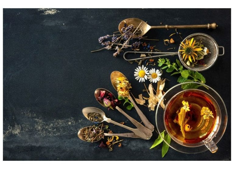 spoons with carious plants