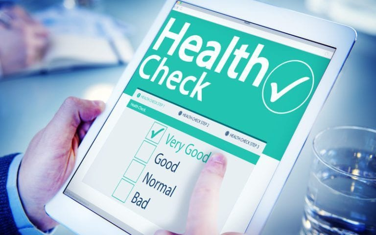 graphic of a health check checklist
