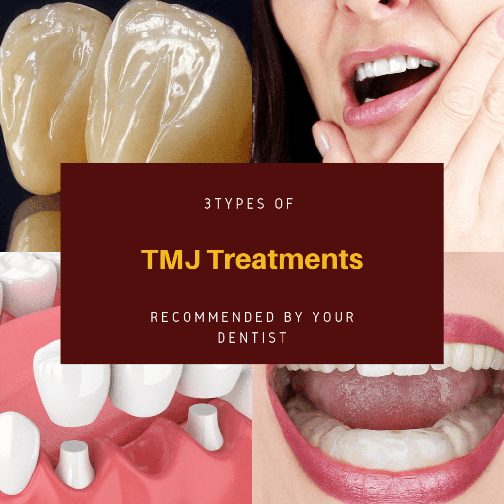Infograph for 3 TMJ treatments recommended by your dentist.