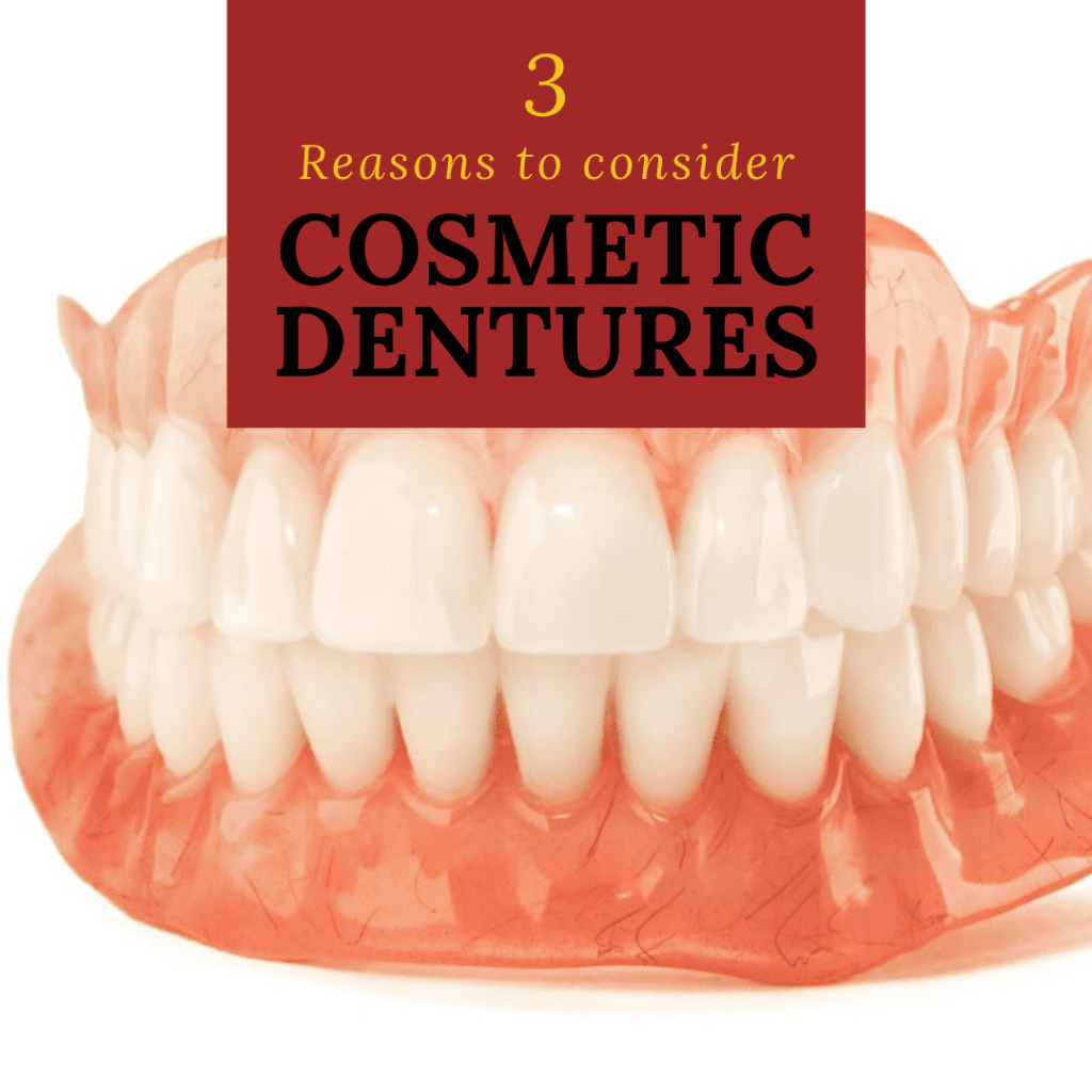 Infographic 3 Reasons to consider cosmetic dentures