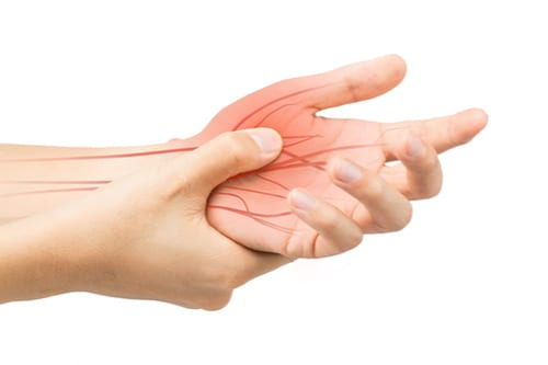 hand with nerve graphic