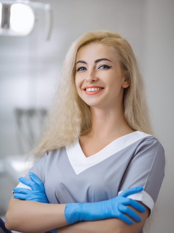 young blone girl dental assistant headshot