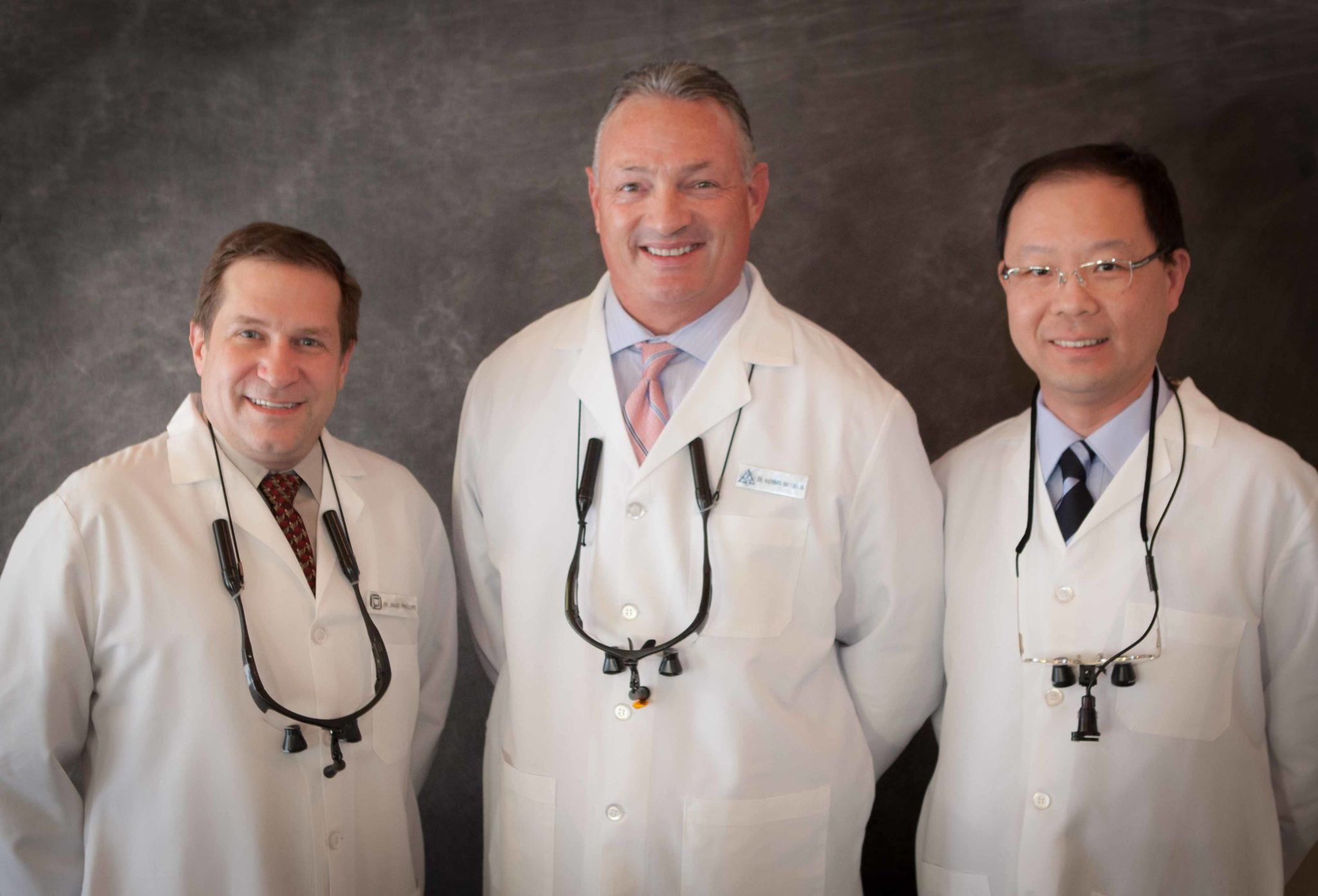 Our Doctors: Dr. David Phillips, Dr. Richard G. Battaglia, & Dr. Kuo-Tung Hsu (pictured Left-to-right)